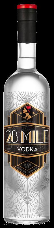 28 Mile Vodka bottle